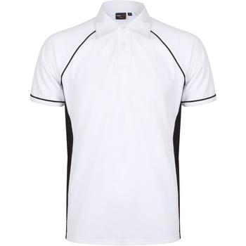 Vêtements Homme Polos manches courtes Finden & Hales Piped Blanc/Noir
