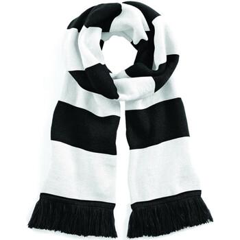 Accessoires textile Echarpes / Etoles / Foulards Beechfield Varsity Noir/Blanc