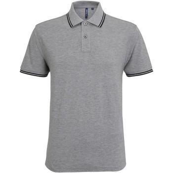 Vêtements Homme T-shirts manches courtes Asquith & Fox Classics Gris chiné/Noir