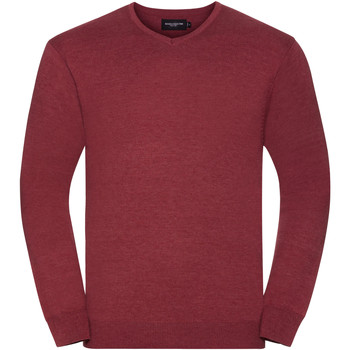 Vêtements Homme Pulls Russell Collection Pullover à col en V BC1012 Canneberge marne