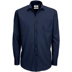 Vêtements Homme Chemises manches longues B And C SMP61 Bleu marine