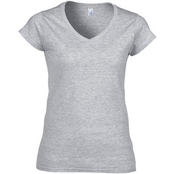 Vêtements Femme T-shirts manches courtes Gildan Soft Style Gris sport