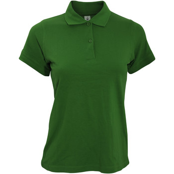 Vêtements Femme Polos manches courtes B And C Safran Vert bouteille