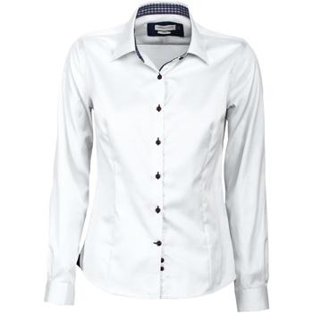 Vêtements Femme Chemises / Chemisiers J Harvest & Frost JF006 Blanc/Bleu marine