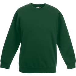 Vêtements Enfant Sweats Fruit Of The Loom 62041 Vert foncé