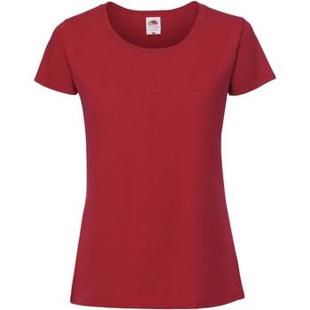 Vêtements Femme T-shirts manches courtes Fruit Of The Loom Premium Rouge