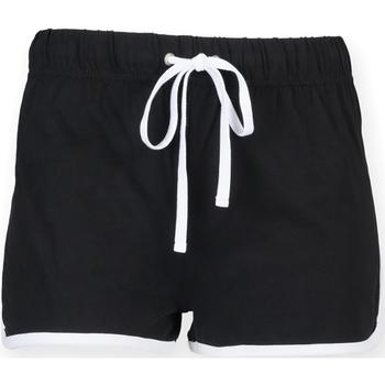 Vêtements Femme Shorts / Bermudas Skinni Fit Retro Noir/Blanc