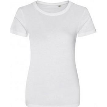 Vêtements Femme T-shirts manches courtes Ecologie Organic Blanc
