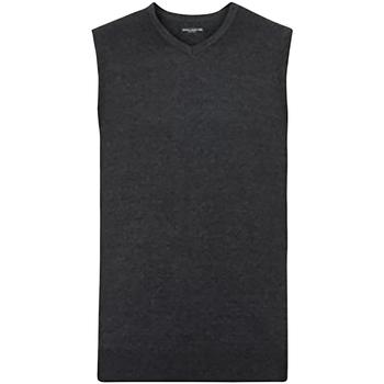 Vêtements Homme Gilets / Cardigans Russell Collection Pull sans manches BC1014 Gris foncé
