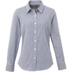 Vêtements Femme Chemises / Chemisiers Premier PR320 Bleu marine/Blanc