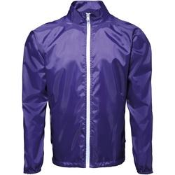 Vêtements Homme Coupes vent 2786 Contrast Pourpre/Blanc