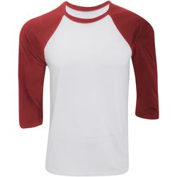 Vêtements Homme T-shirts manches courtes Bella + Canvas Baseball Blanc / rouge