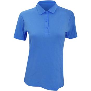 Vêtements Femme Polos manches courtes Anvil Pique Bleu piscine