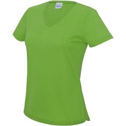Vêtements Femme T-shirts manches courtes Awdis Girlie Vert citron
