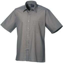 Vêtements Homme Chemises manches courtes Premier PR202 Gris foncé