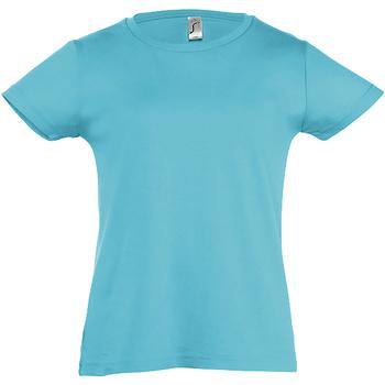 Vêtements Fille T-shirts manches courtes Sols Cherry Bleu atoll
