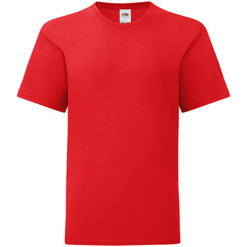 Vêtements Enfant T-shirts manches courtes Fruit Of The Loom Iconic Rouge