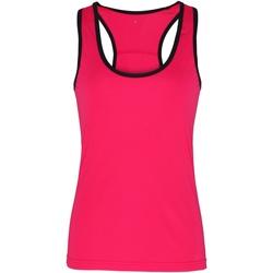 Vêtements Femme Débardeurs / T-shirts sans manche Tridri Panel Rose/Noir