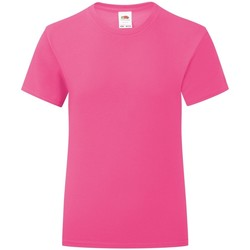 Vêtements Fille T-shirts manches courtes Fruit Of The Loom Iconic Rose