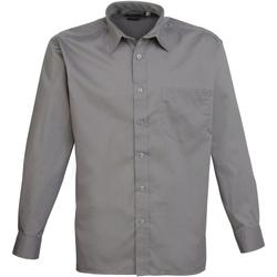 Vêtements Homme Chemises manches longues Premier PR200 Gris foncé