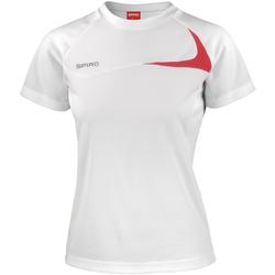 Vêtements Femme T-shirts manches courtes Spiro Performance Blanc/Rouge