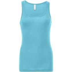 Vêtements Femme Débardeurs / T-shirts sans manche Bella + Canvas Sheer Bleu clair