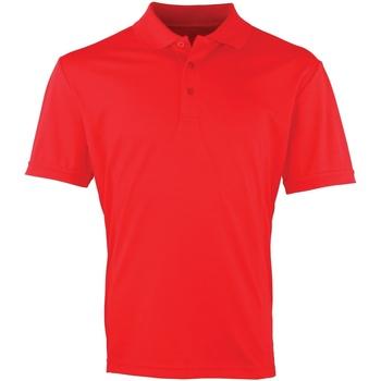 Vêtements Homme Polos manches courtes Premier PR615 Rouge fraise