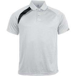 Vêtements Homme Polos manches courtes Kariban Proact Proact Blanc/Noir/Gris