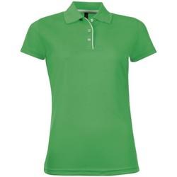 Vêtements Femme Polos manches courtes Sols Performer Vert tendre