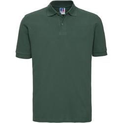Vêtements Homme Polos manches courtes Russell 569M Vert bouteille
