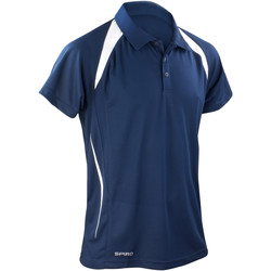 Vêtements Homme Polos manches courtes Spiro Performance Bleu marine/Blanc