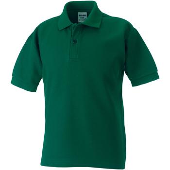 Vêtements Garçon Polos manches courtes Jerzees Schoolgear Pique Vert bouteille
