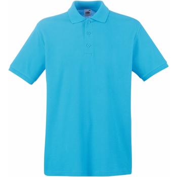 Vêtements Homme Polos manches courtes Fruit Of The Loom 63218 Bleu azur