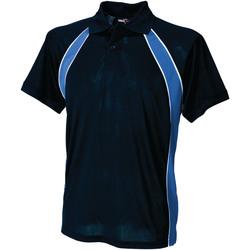 Vêtements Homme Polos manches courtes Finden & Hales Jersey Bleu marine/Bleu roi/Blanc