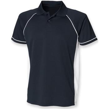 Vêtements Homme Polos manches courtes Finden & Hales Performance Bleu marine/Blanc