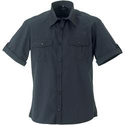 Vêtements Femme Chemises / Chemisiers Russell Pull Col Rond Pc3138% coton à manches courtes RW3261 Zinc