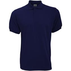 Vêtements Homme Polos manches courtes B And C PU409 Bleu marine