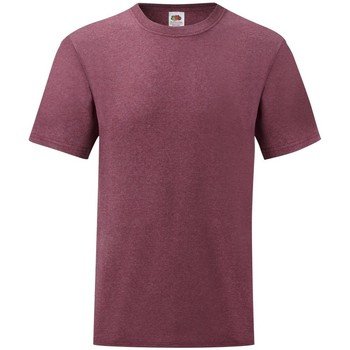 Vêtements Homme T-shirts manches courtes Fruit Of The Loom Valueweight Bordeaux chiné