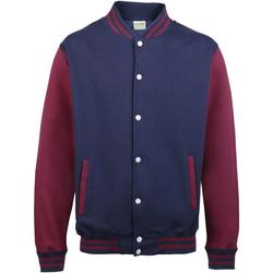 Vêtements Homme Blousons Awdis JH043 Bleu marine/Bordeaux