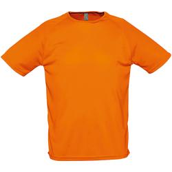 Vêtements Homme T-shirts manches courtes Sols 11939 Orange néon