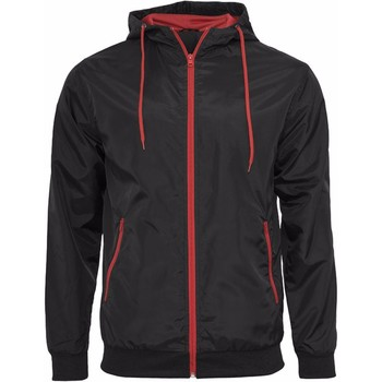 Vêtements Homme Blousons Build Your Brand Wind Runner Noir/ Rouge