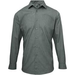 Vêtements Homme Chemises manches longues Premier Poplin Gris