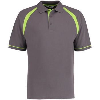 Vêtements Homme Polos manches courtes Kustom Kit KK615 Gris foncé/Vert citron