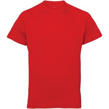 Vêtements Homme T-shirts manches courtes Tridri Panel Rouge feu
