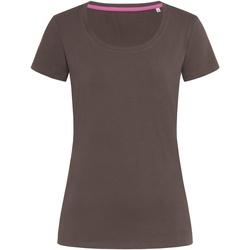 Vêtements Femme T-shirts manches courtes Stedman Stars Claire Marron foncé