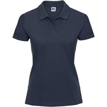 Vêtements Femme Polos manches courtes Russell Polo 100% coton à manches courtes RW3279 Bleu marine