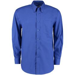 Vêtements Homme Chemises manches longues Kustom Kit Oxford Bleu roi