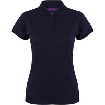 Vêtements Femme Polos manches courtes Henbury Coolplus Bleu marine Oxford