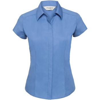 Vêtements Femme Chemises / Chemisiers Russell Chemise à Manches Courtes mancherons BC1019 Bleu clair