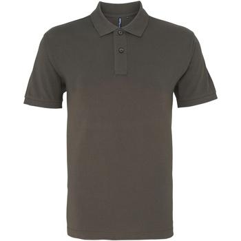 Vêtements Homme Polos manches courtes Asquith & Fox AQ010 Ardoise